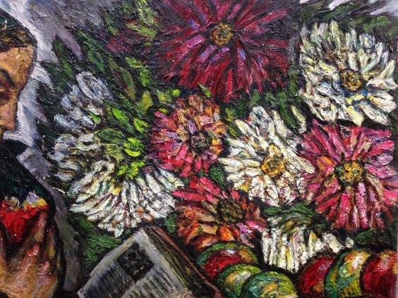 """My Anna flowers, Van Gogh sheets""-Lytvyn Leonid Grigorievich"