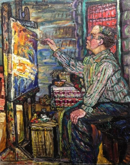 """My friend and pupil Yuri Yakovlevich Pesnyak"" 1983 - Lytvyn Leonid Grigorievich"