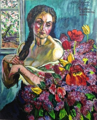 """April in Kozhuhivtse, Anna."" 1983 - Lytvyn Leonid Grigorievich"