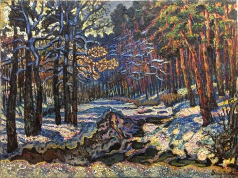 """The forest near Kiev, the first snow"" 1983 - Lytvyn Leonid Grigorievich"