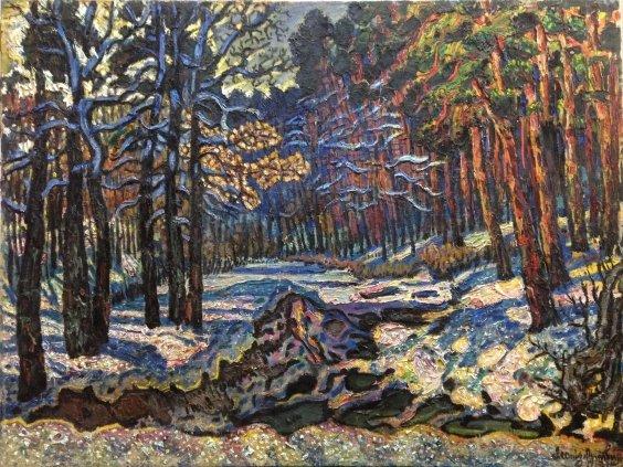 """""""The forest near Kiev, the first snow"""" 1983 - Lytvyn Leonid Grigorievich"""