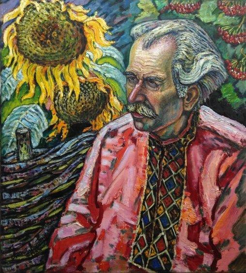 """Portrait of """"Grigory Pavlovich Pinchuk"""" 1985 - Lytvyn Leonid Grigorievich"""
