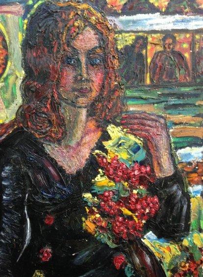 "Portrait of ""My Ganna-Kalinova Madonna""-Lytvyn Leonid Grigorievich"