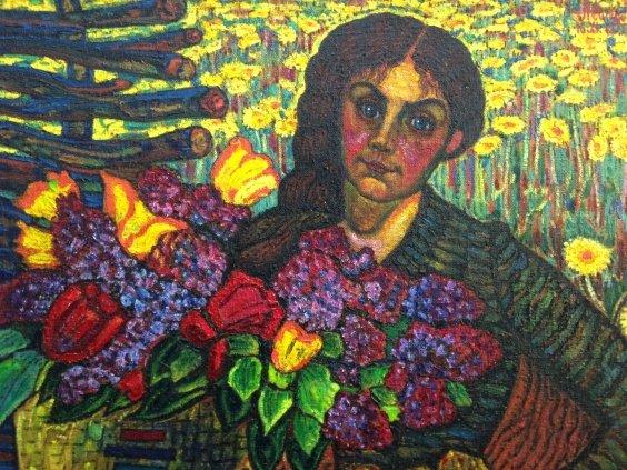 «Весняночка-Половчаночка . Моя Анна с букетом»-Литвин Леонид Григорьевич