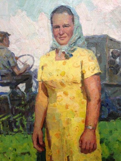 """Portrait of the Hero of Socialist Labor-link Buryakovo""-Ryabokon Fedor Evdokimovich"