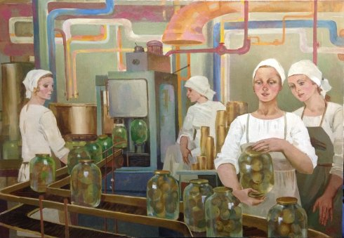 «На консервном заводе» 1985 - Фальчук Алла Мироновна