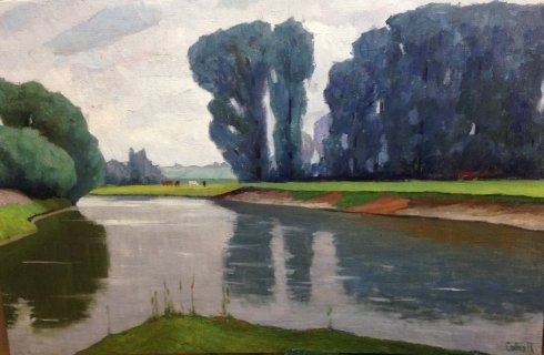 "Landscape ""On the River"" 1970  - Sobko Petr Stepanovich"