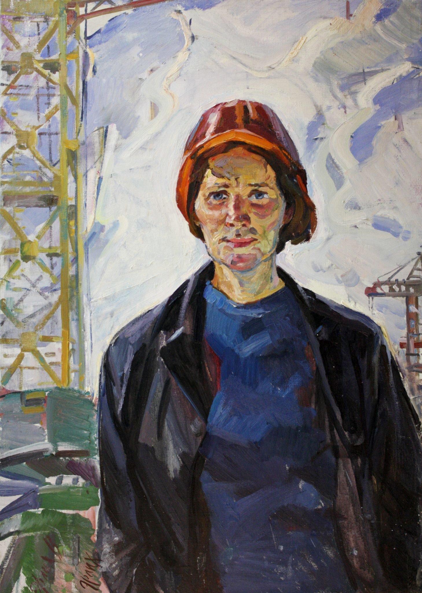 """Portrait """"Crane"""" 1974 - Ehrlich Vladimir Isaakovich"""