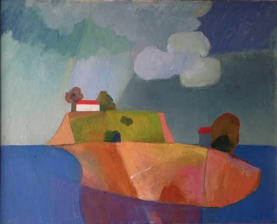 """Clouds over the island"" 2009 - Razinkina Olga Nikolaevna"