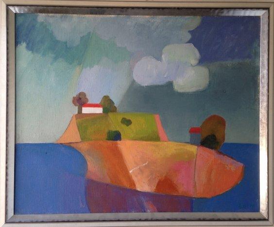 """Clouds over the island""-Razinkina Olga Nikolaevna"