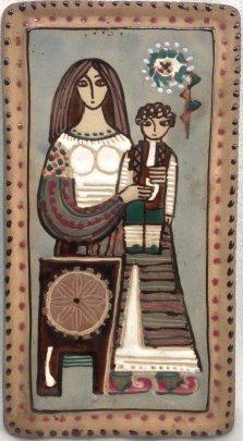 ЛКСФ Декоративное панно «Мать и Дитя» 1970 е - ЛКСФ Декоративное панно «Мать и Дитя»
