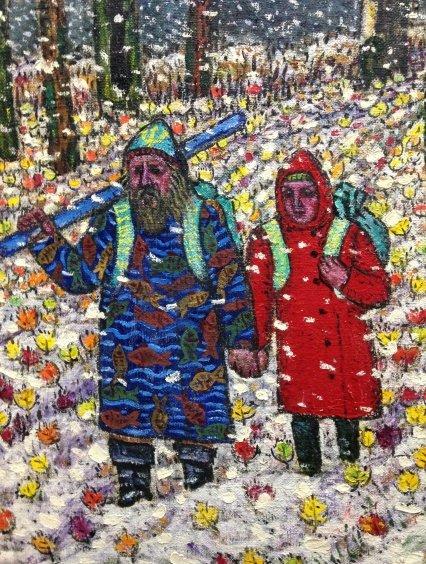 «Пришла зима. Первый снег»-Литвин Леонид Григорьевич