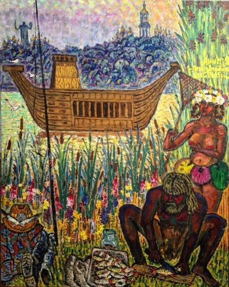 """""""Anna and I. The Dnieper Ark"""" 2005 - Lytvyn Leonid Grigorievich"""