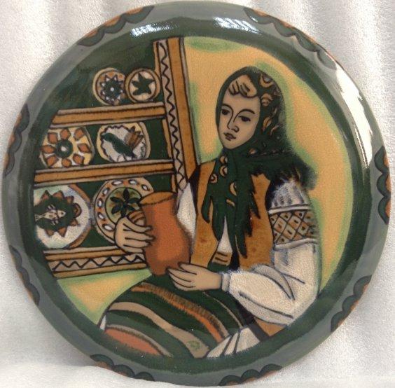 ЛЭКСФ Декоративная тарелка «Народные промыслы» 1960 е - ЛЭКСФ Декоративная тарелка «Народные промыслы»