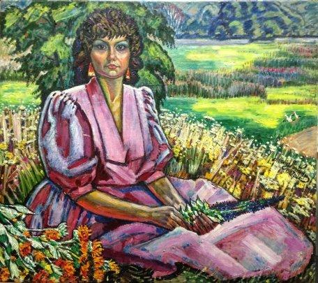 """Portrait of Galina Kotko"" 1987 - Lytvyn Leonid Grigorievich"