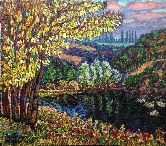 """Landscape """"Yaseni, Yaseni, Soroche. Fastov"""" 1983 - Lytvyn Leonid Grigorievich"""