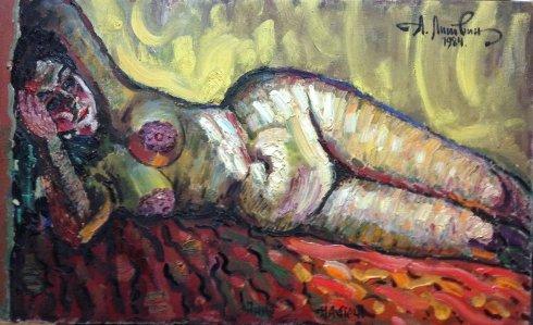 """""""Anna: On the Stove"""" 1984 - Lytvyn Leonid Grigorievich"""