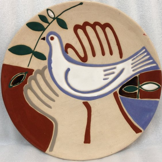 ЛКСФ Декоративная тарелка «Голубь Мира» 1970 е - ЛКСФ Декоративная тарелка «Голубь Мира»
