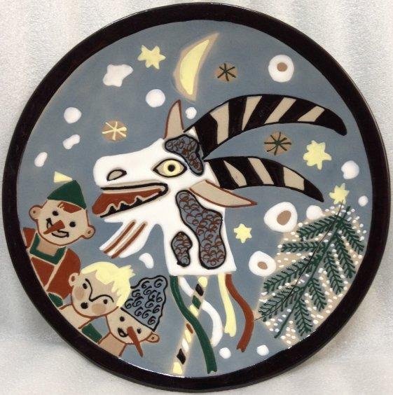 ЛКСФ Декоративная тарелка «Колядники» 1960 е - ЛКСФ Декоративная тарелка «Колядники»