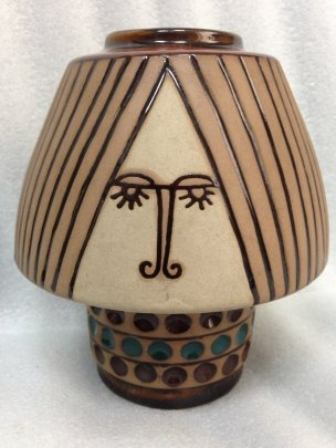 ЛКСФ Керамическая ваза с орнаментом «Гуцул» 1969 - ЛКСФ Керамическая ваза с орнаментом «Гуцул»