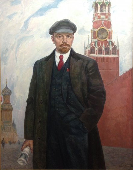"""VI Lenin at the Kremlin Walls"" 1988 - Gavdzinskaya Elena Albinovna"