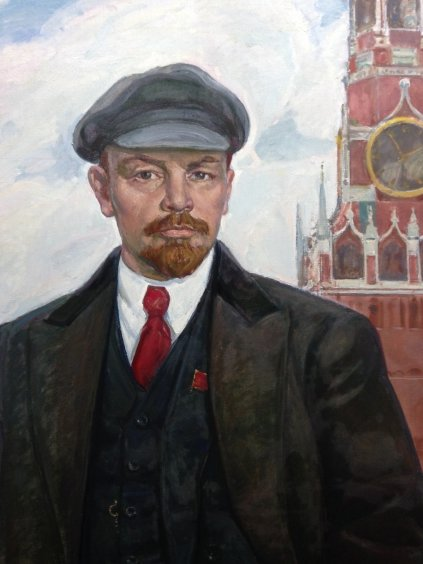 """VI Lenin at the Kremlin Walls""-Gavdzinskaya Elena Albinovna"