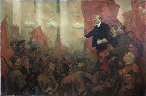 """""""Listening to Lenin"""" 1970 - Gutorov Ivan Fedorovich"""