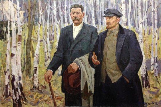 """Conversation: VI Lenin and Maxim Gorky"" 1970 - Yudenko Ivan Savelyevich"