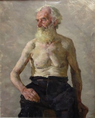 """Portrait of an Old Man"" 1953 - Andriychuk Mikhail Yemelyanovich"
