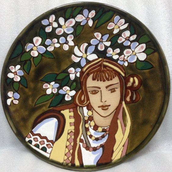 ЛКСФ Декоративная тарелка «Весна» 1970 е - ЛКСФ Декоративная тарелка «Весна»
