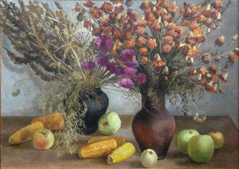 Натюрморт «Осень» 1980-1990 - Шаталин Виктор Васильевич