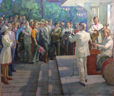 «Встреча на БАМе. Искусство-народу !» 1980 - Сытник Владимир Иванович