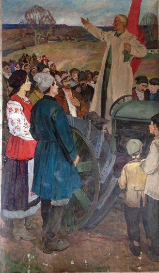 Триптих «Декрет о Земле» (правая часть) 1972 - Васецкий Григорий Степанович