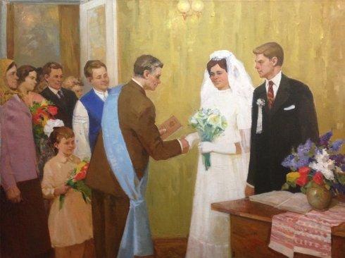«Поздравления молодоженов» 1970 е - Титарчук Леонид Васильевич