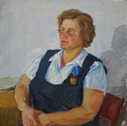 «Портрет кавалера ордена Трудового Красного Знамени» 1960 е - Завгородний Анатолий Петрович