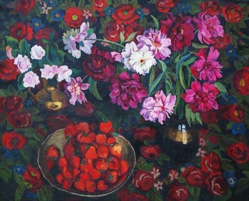 «Цветы и клубника» 1969 - Зоря Галина Денисовна