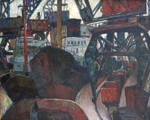 «Индустриальный пейзаж. В порту» 1998 - Ленчик Игорь Иосифович