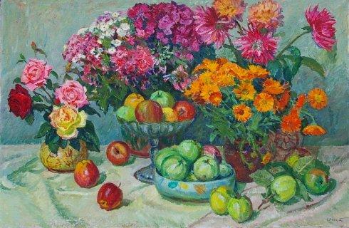 «Цветы и фрукты» 1970 е - Эльберт Виктор Давыдович