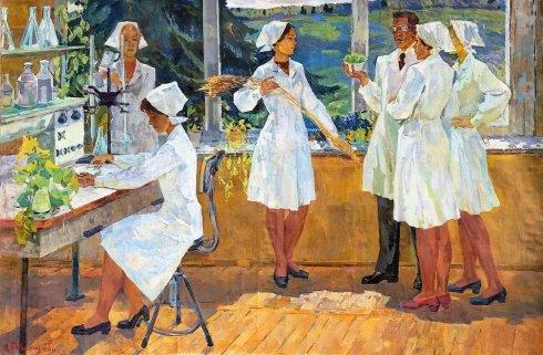 «В совхозной лаборатории» 1978 - Басанец Александр Дмитриевич