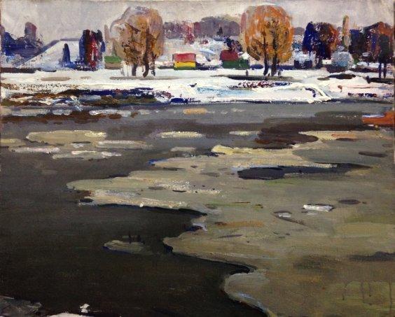 «Зимняя река» 1960 е - Жуган Владимир Александрович