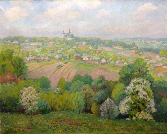 Пейзаж «Родина» 1970 е - Колесник Владимир Артемьевич