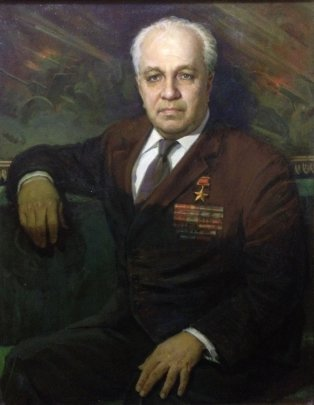 Портрет «Герой Советского Союза Кривокорытов П.Т.» 1984 - Семенов Александр Иванович