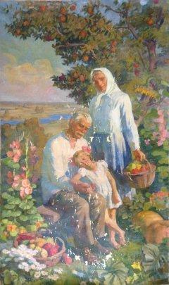 Правая часть Триптиха «Три поколения»-«Зрелость» 1988 - Макогон Игорь Иванович