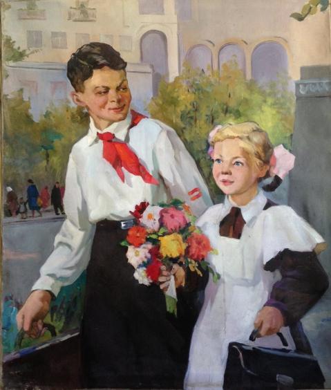 «Первый раз-в первый класс !» 1950 е гг. - Васецкий Григорий Степанович