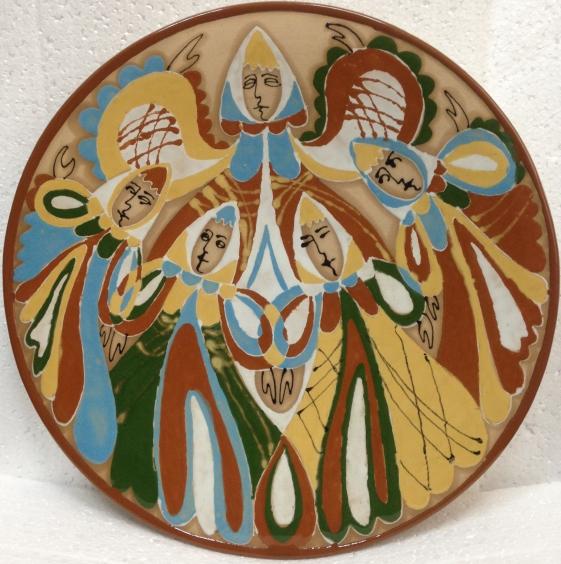 ЛКСФ Декоративная тарелка «Народные песни» 1970 е - ЛКСФ Декоративная тарелка «Народные песни»