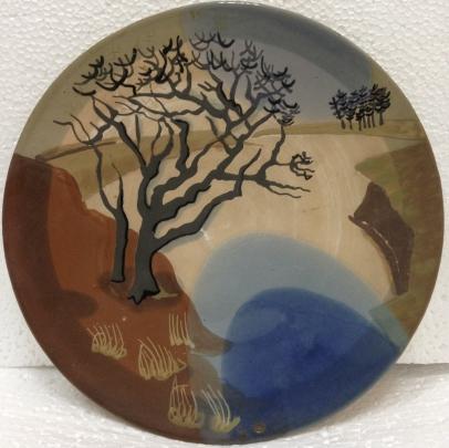 ЛКСФ Декоративная тарелка «У озера» 1960 е - ЛКСФ Декоративная тарелка «У озера»