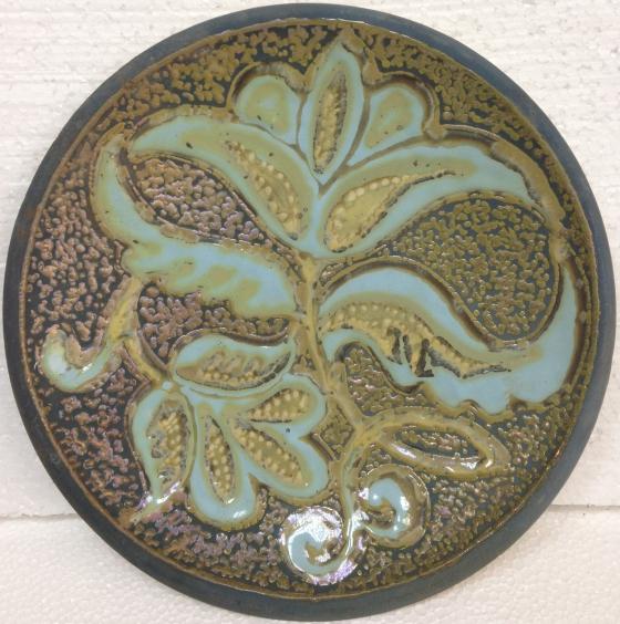 ЛКСФ Декоративная тарелка «Цветочный узор» 1970 е - ЛКСФ Декоративная тарелка «Цветочный узор»