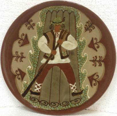 ЛКСФ Декоративная тарелка «Гуцул на плоту» 1960 е - ЛКСФ Декоративная тарелка «Гуцул на плоту»