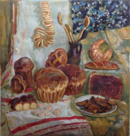 «Натюрморт с Хлебами» 1988 - Зоря Галина Денисовна