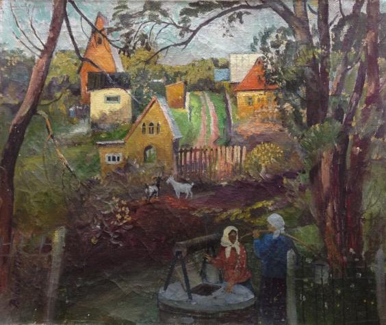 «Беседа. У колодца» 1974 - Волохов Владимир Кондратьевич